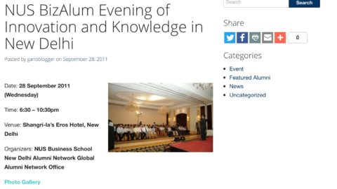Biz Alum Evening of Innovation and Knowledge