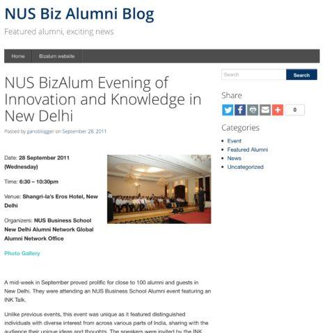 Biz Alum Evening of Innovation and Knowledge