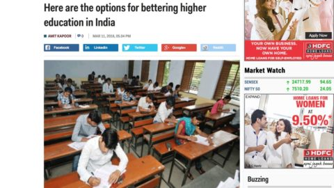Here are the options for bettering higher education in India