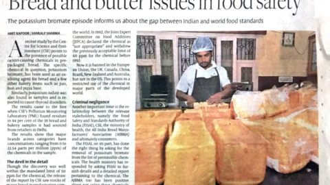 Bread and Butter issues in food safety