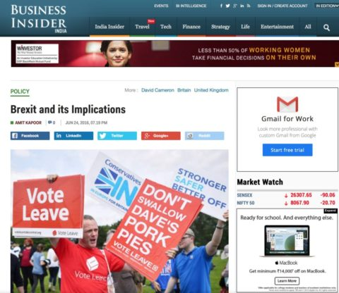 Brexit and its Implications