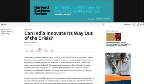 Can India Innovate Its Way out of Crisis