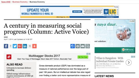 A century in measuring social progress