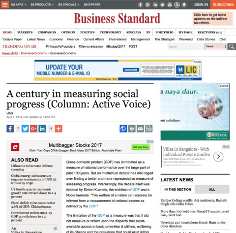 A century in measuring social progress