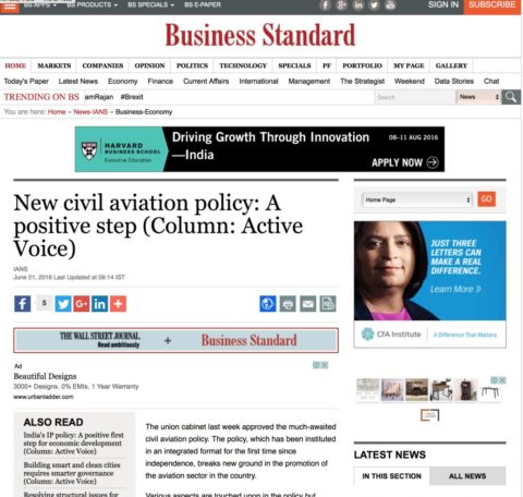 New civil aviation policy: A positive step
