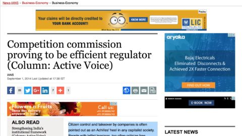 Competition commission proving to be efficient regulator