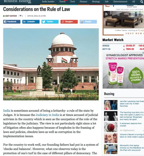 Considerations on the Rule of Law