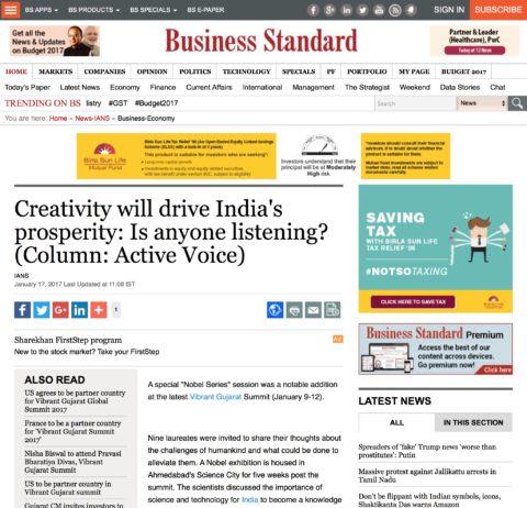 Creativity will drive India's prosperity: Is anyone listening?