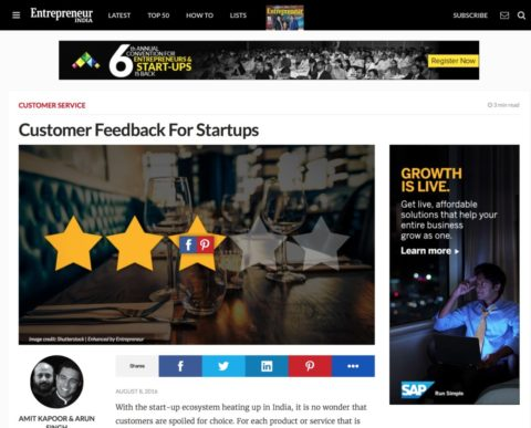 Customer Feedback For Startups