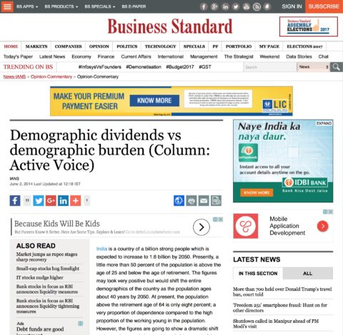 Demographic dividends vs demographic burden