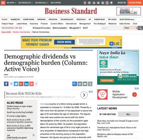 Demographic dividends vs demographic burden