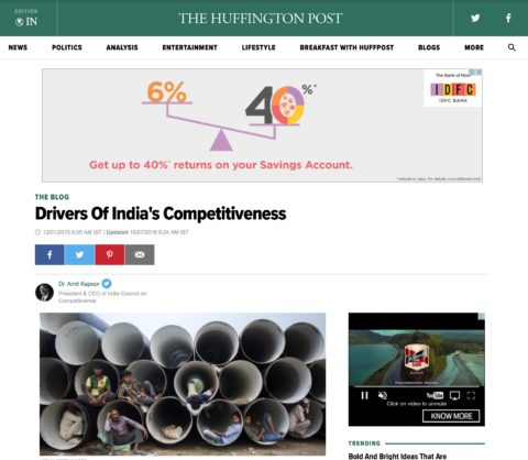 Drivers Of India's Competitiveness