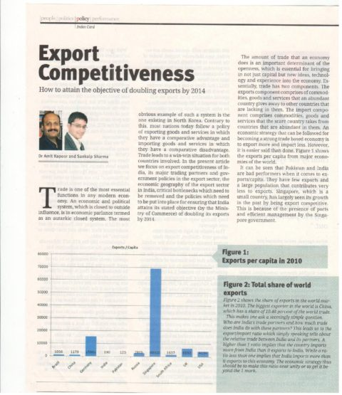 Export Competitiveness