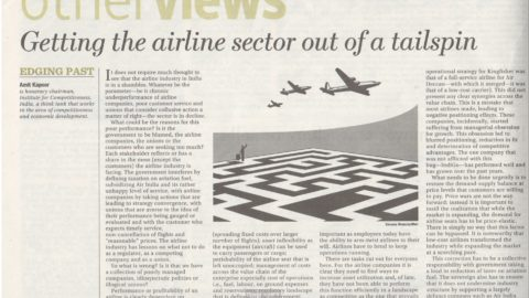 Getting the airline sector out of a tailspin