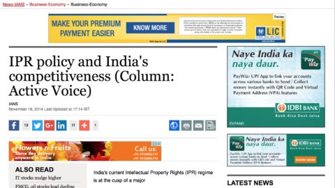 IPR policy and India's competitiveness