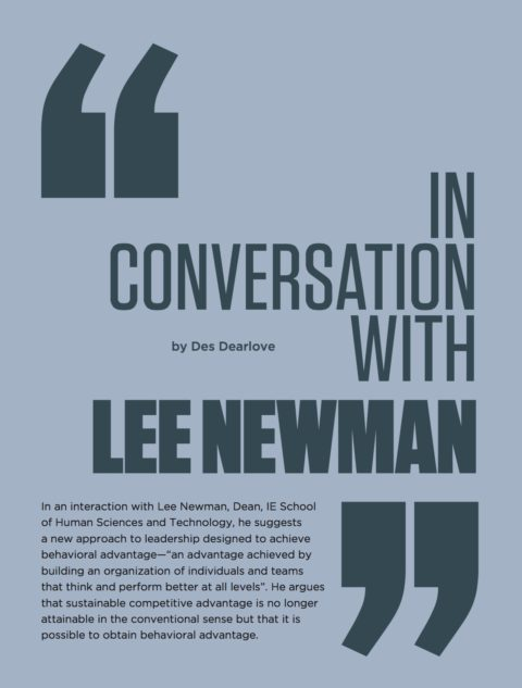 In Conversation with Lee Newman