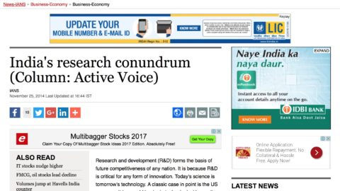 India's Research Conundrum