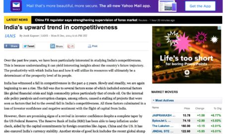 India's upward trend in competitiveness