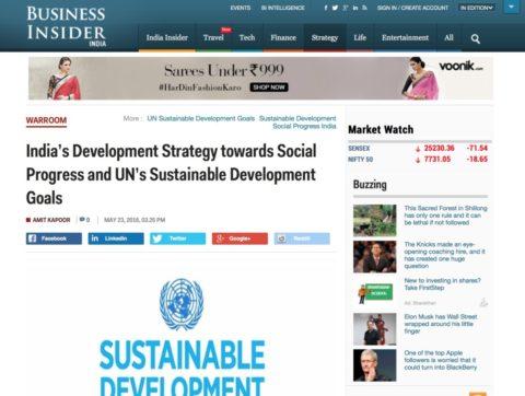 India's Development Strategy towards Social Progress and UN's Sustainable Development Goals