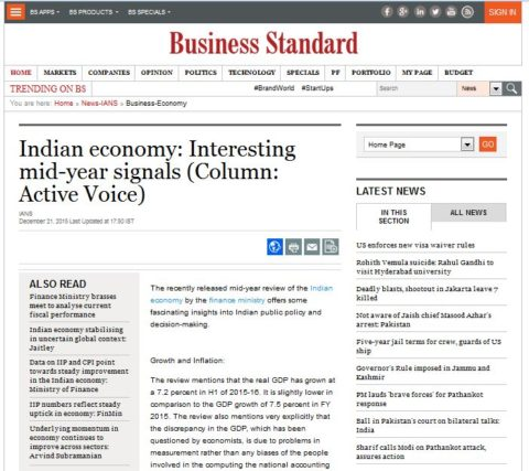 Indian economy: Interesting mid-year signals