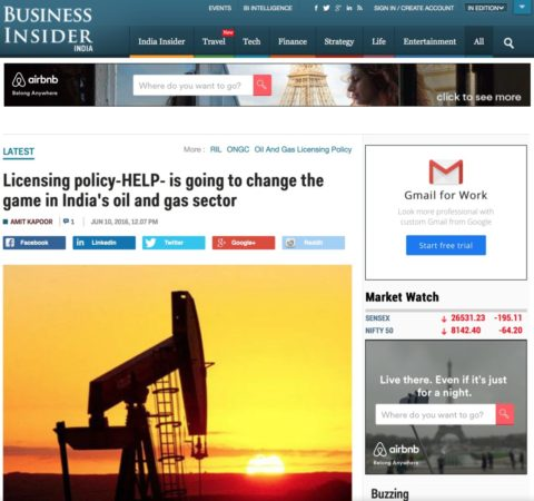 Licensing policy-HELP- is going to change the game in India's oil and gas sector