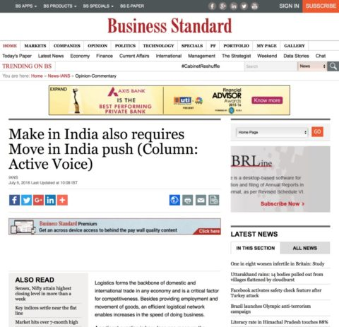 Make in India also requires Move in India push