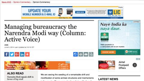 Managing bureaucracy the Narendra Modi way