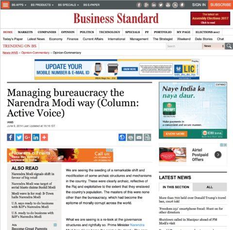 Managing bureaucracy the Narendra Modi way