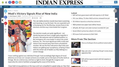 Modi's Victory Signals Rise of New India
