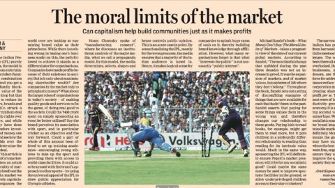 The Moral Limits of the Market