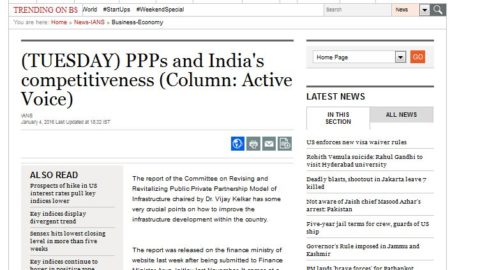 PPPs and India's competitiveness