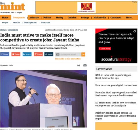 India must strive to make itself more competitive to create jobs: Jayant Sinha