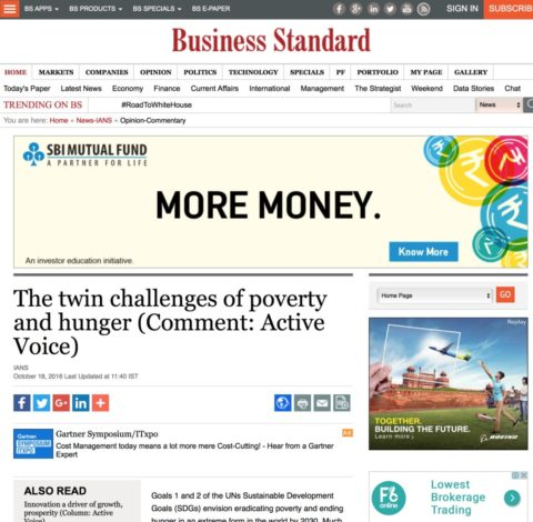 The twin challenges of poverty and hunger