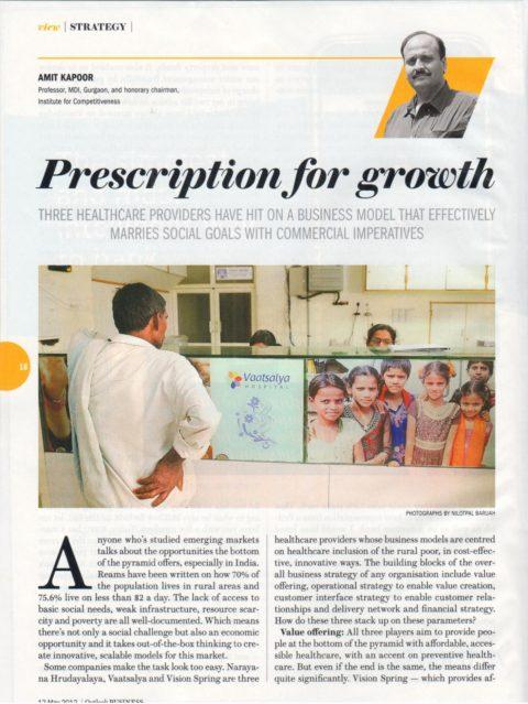 Prescription for growth