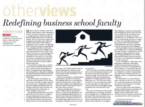 Redefining business school faculty