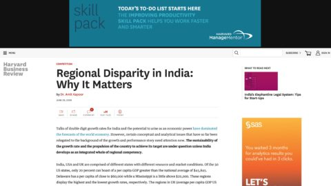 Regional Disparity in India