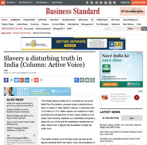 Slavery a disturbing truth in India