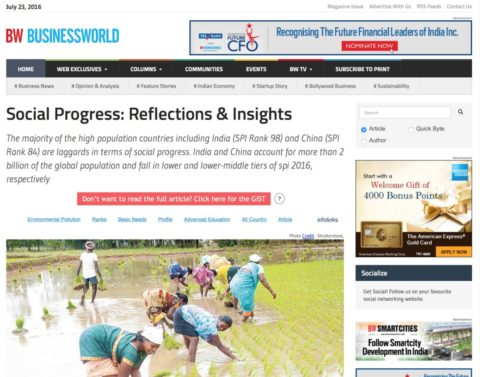 Social Progress: Reflections & Insights