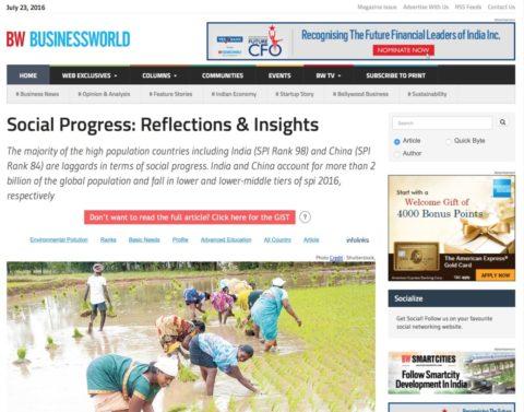 Social Progress: Reflections & Insights