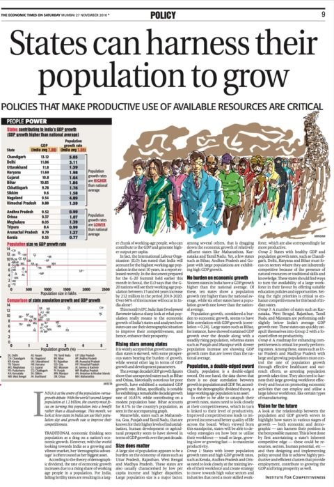 States can Harness Their Population to Grow