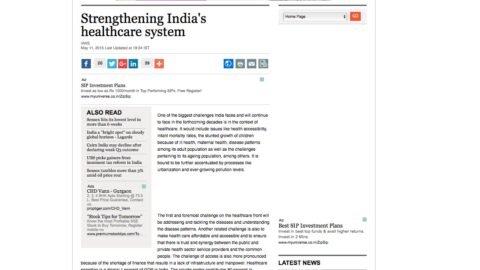 Strengthening India's healthcare system