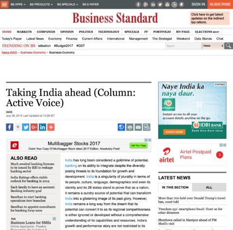 Taking India ahead