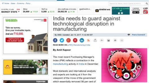 India needs to guard against technological disruption in manufacturing