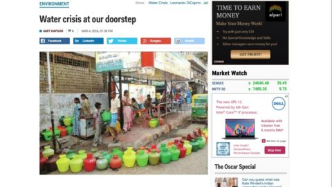 Water crises at our doorstep