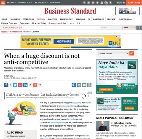 When a huge discount is not anti-competitive