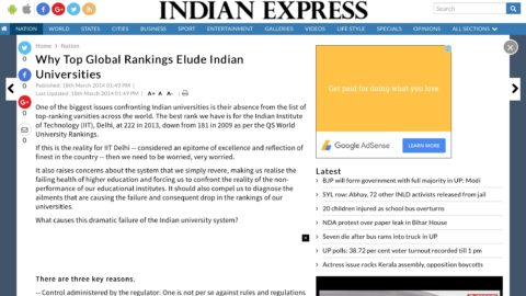 Why Top Global Rankings Elude Indian Universities
