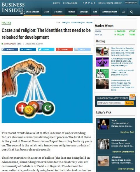 Caste and religion: The identities that need to be relooked for development