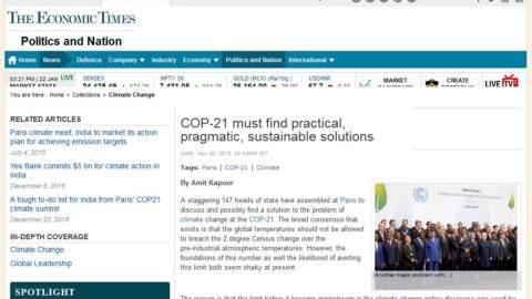 COP-21 must find practical, pragmatic, sustainable solutions
