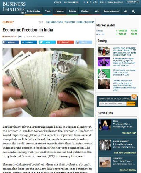 Economic Freedom in India