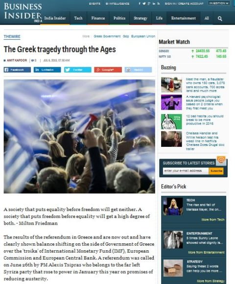 The Greek tragedy through the Ages